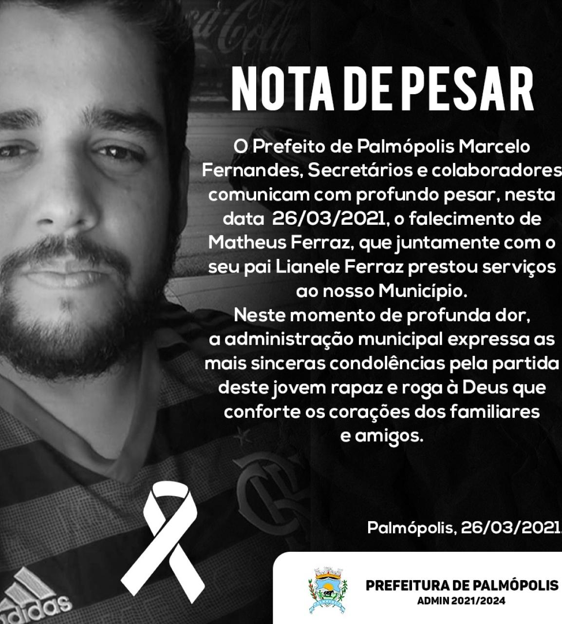 Nota de Pesar - Matheus Ferraz